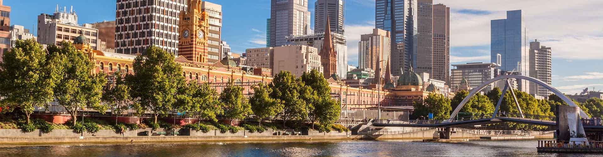 Melbourne - Hostele w dzielnicy: Melbourne. Mapy: Melbourne, Zdjęcia i Recenzje dla hosteli w mieście: Melbourne.