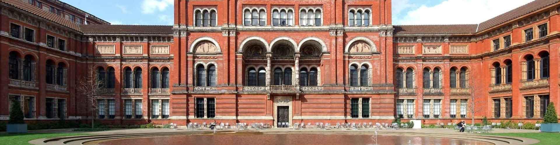 Londyn - Hostele w pobliżu: Muzeum Victorii i Alberta. Mapy: Londyn, Zdjęcia i Recenzje dla każdego hostelu w mieście: Londyn.