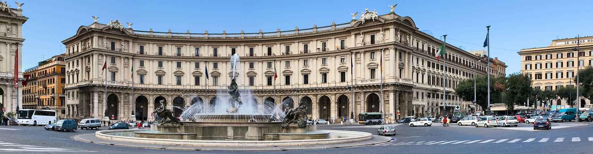 Rzym - Hostele w pobliżu: Piazza della Repubblica. Mapy: Rzym, Zdjęcia i Recenzje dla każdego hostelu w mieście: Rzym.
