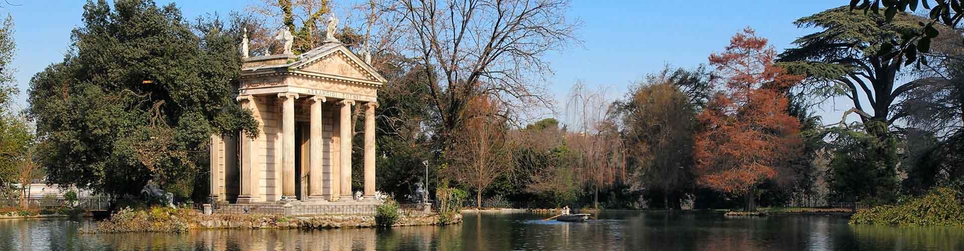 Rzym - Hostele w pobliżu: Villa Borghese. Mapy: Rzym, Zdjęcia i Recenzje dla każdego hostelu w mieście: Rzym.